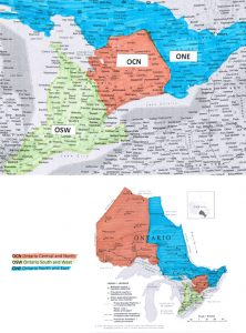 Regional map of Ontario
