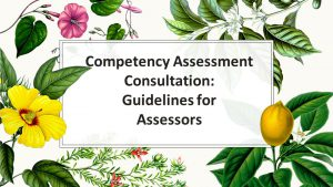 Competency Assessment- Guidelines for Assessors