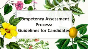 Competency Assessment- Guidelines for Candidates